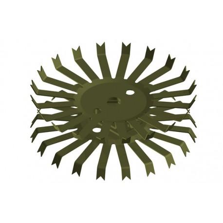 Titan-Doppel-Stanzteller mit 20+20 Kontakten