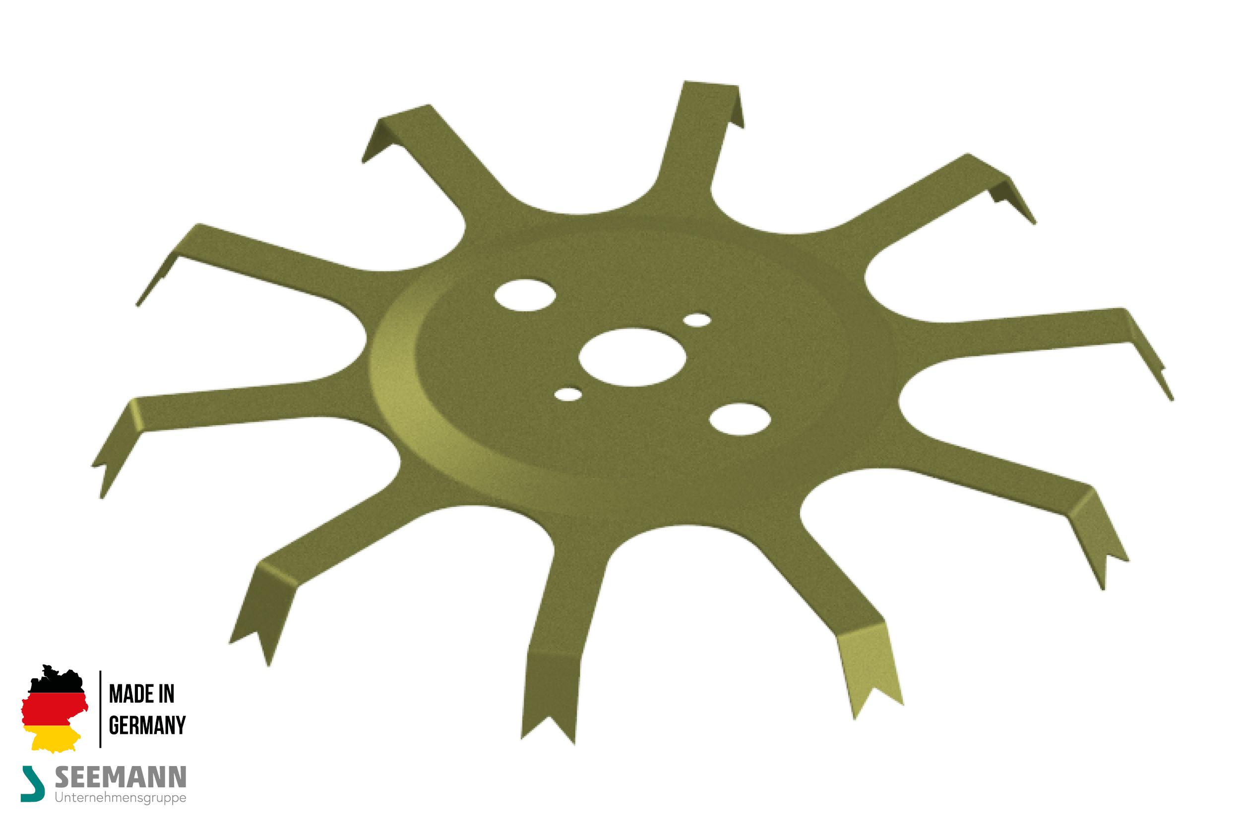 Titan-Stanzteller mit 10 Kontakten für Wechselflansch