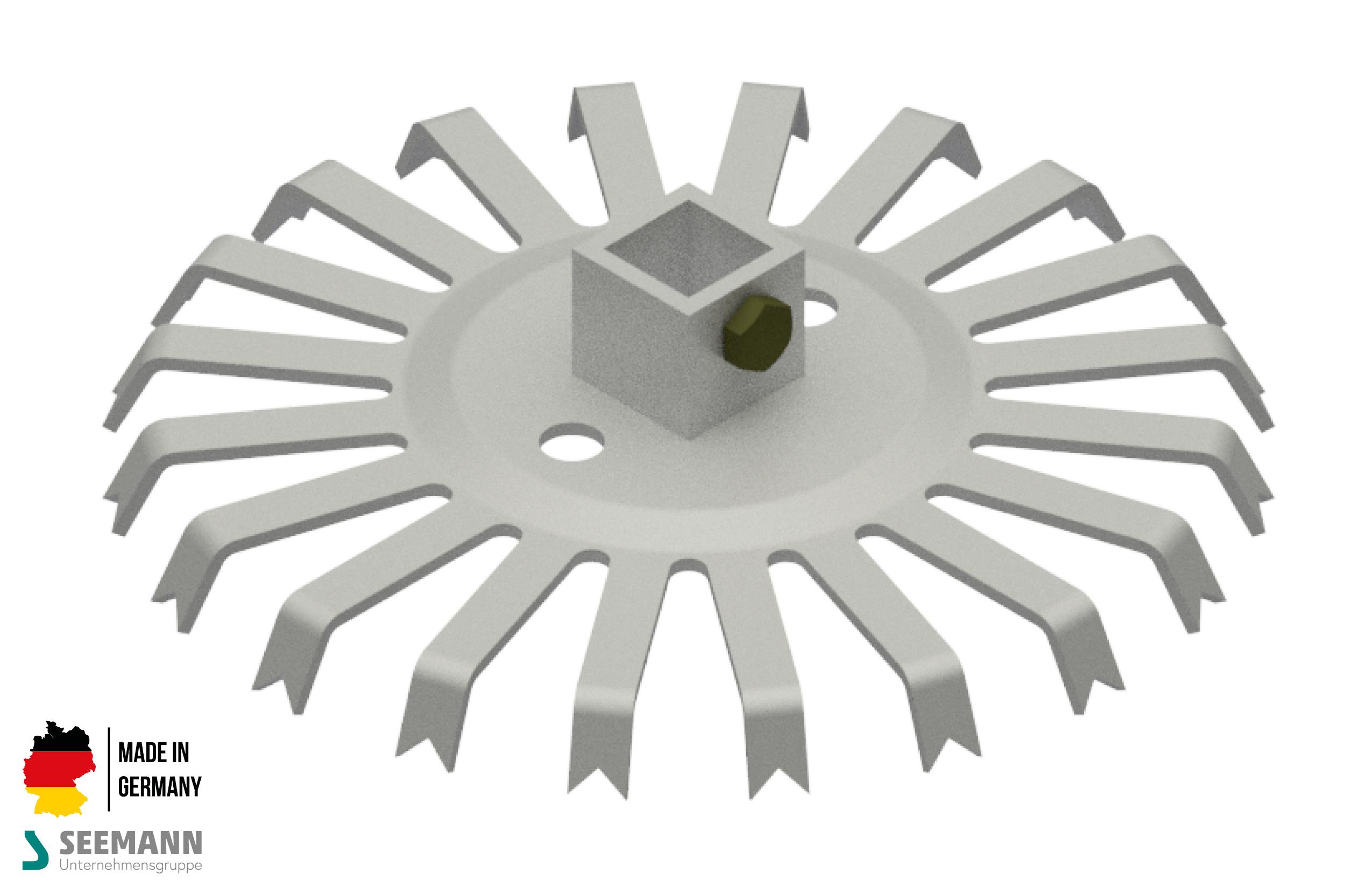 Alu-Stanzteller mit 20 Kontakten für 4-Kant-Mittelstab