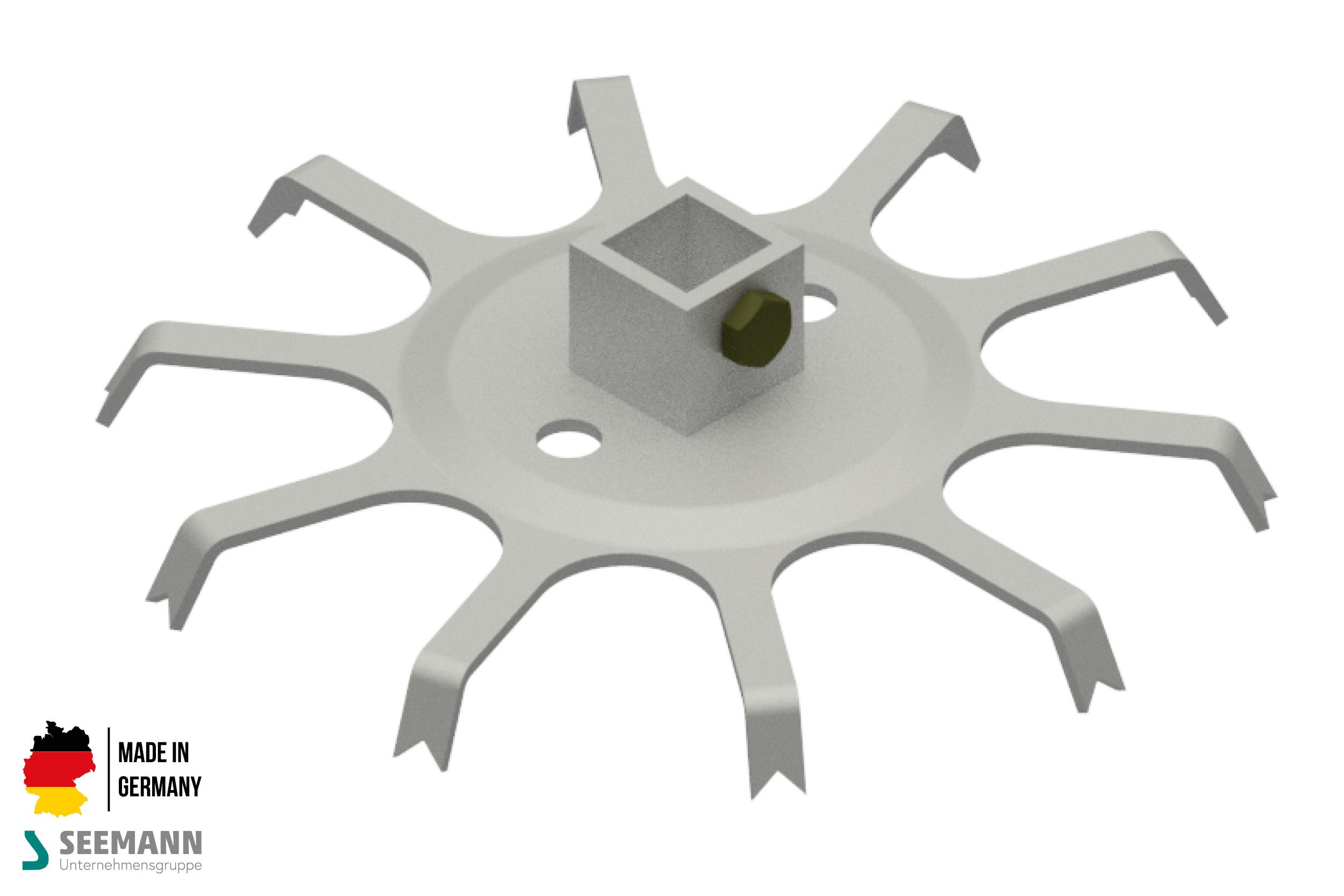 Alu-Stanzteller mit 10 Kontakten für 4-Kant-Mittelstab