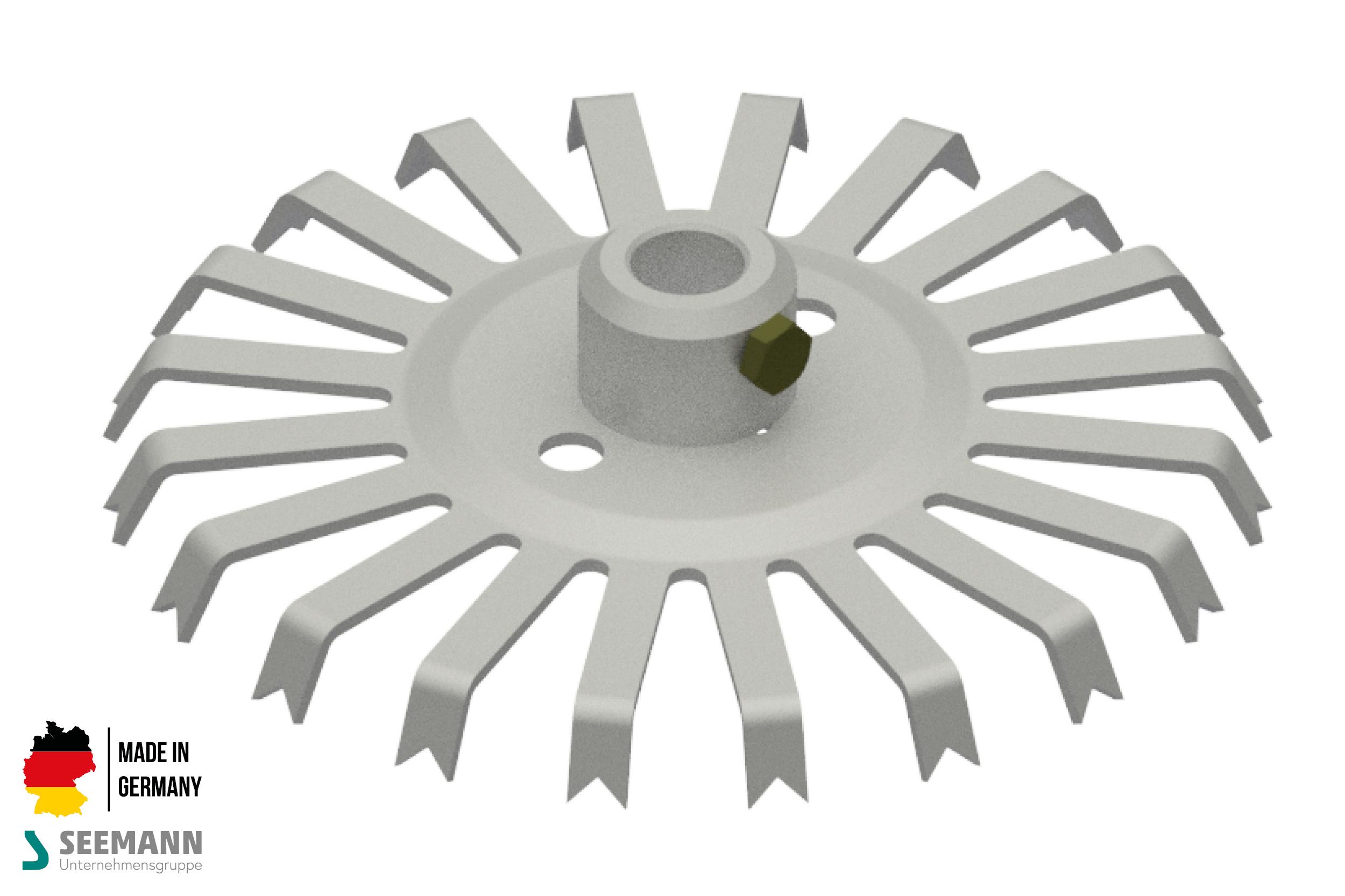 Alu-Stanzteller mit 20 Kontakten für runden Mittelstab