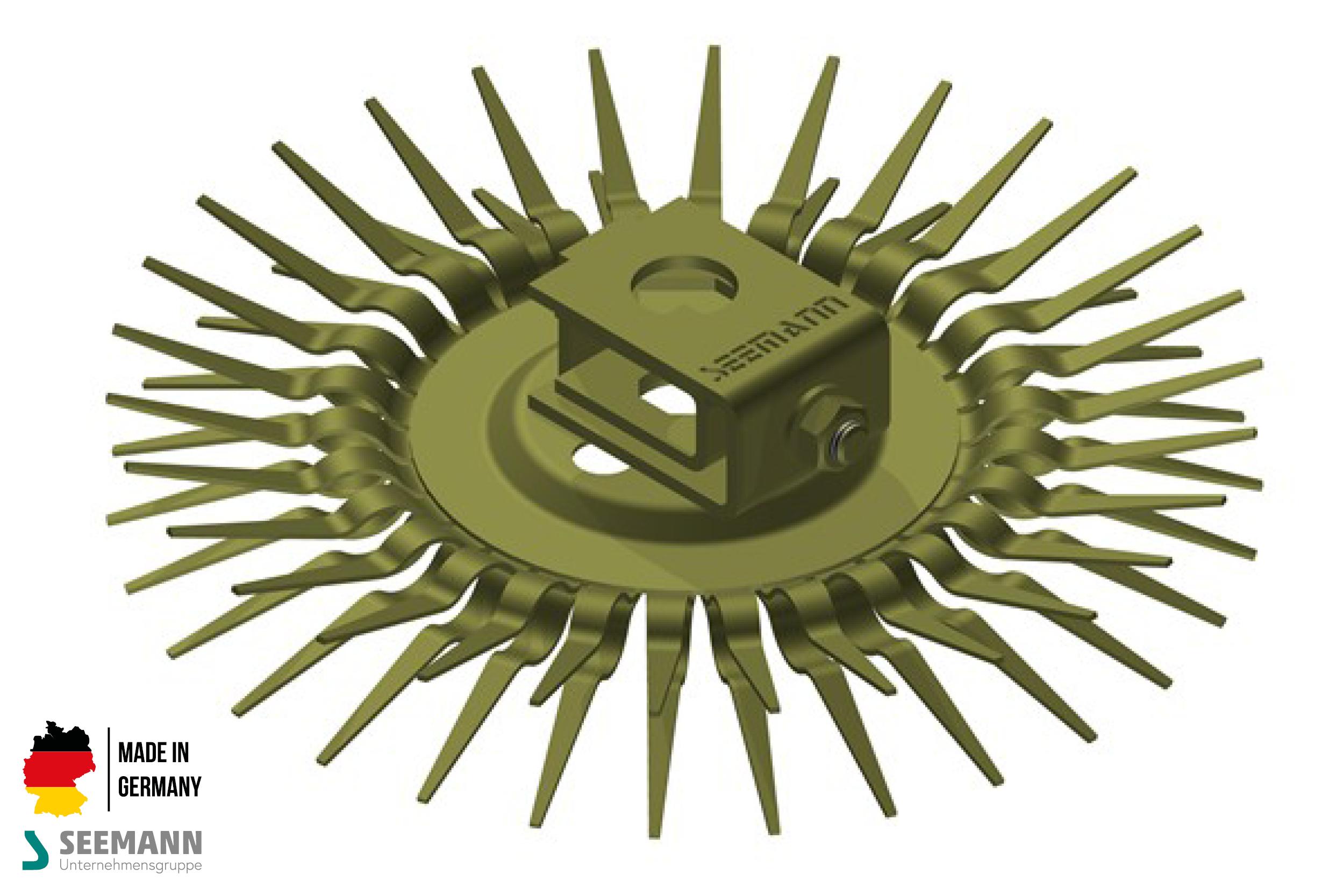 Titan-Klammerteller mit 30 Kontakten