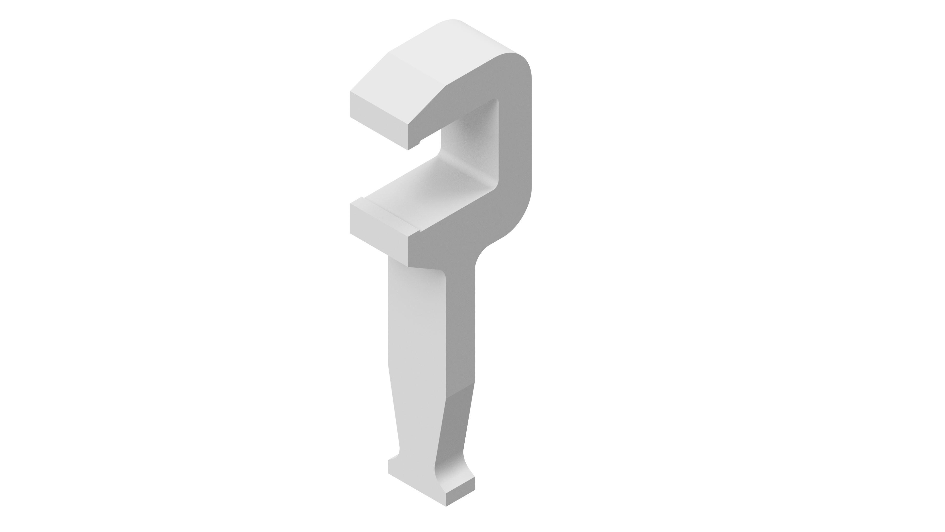 Einfache Alu-C-Klammer 25x28