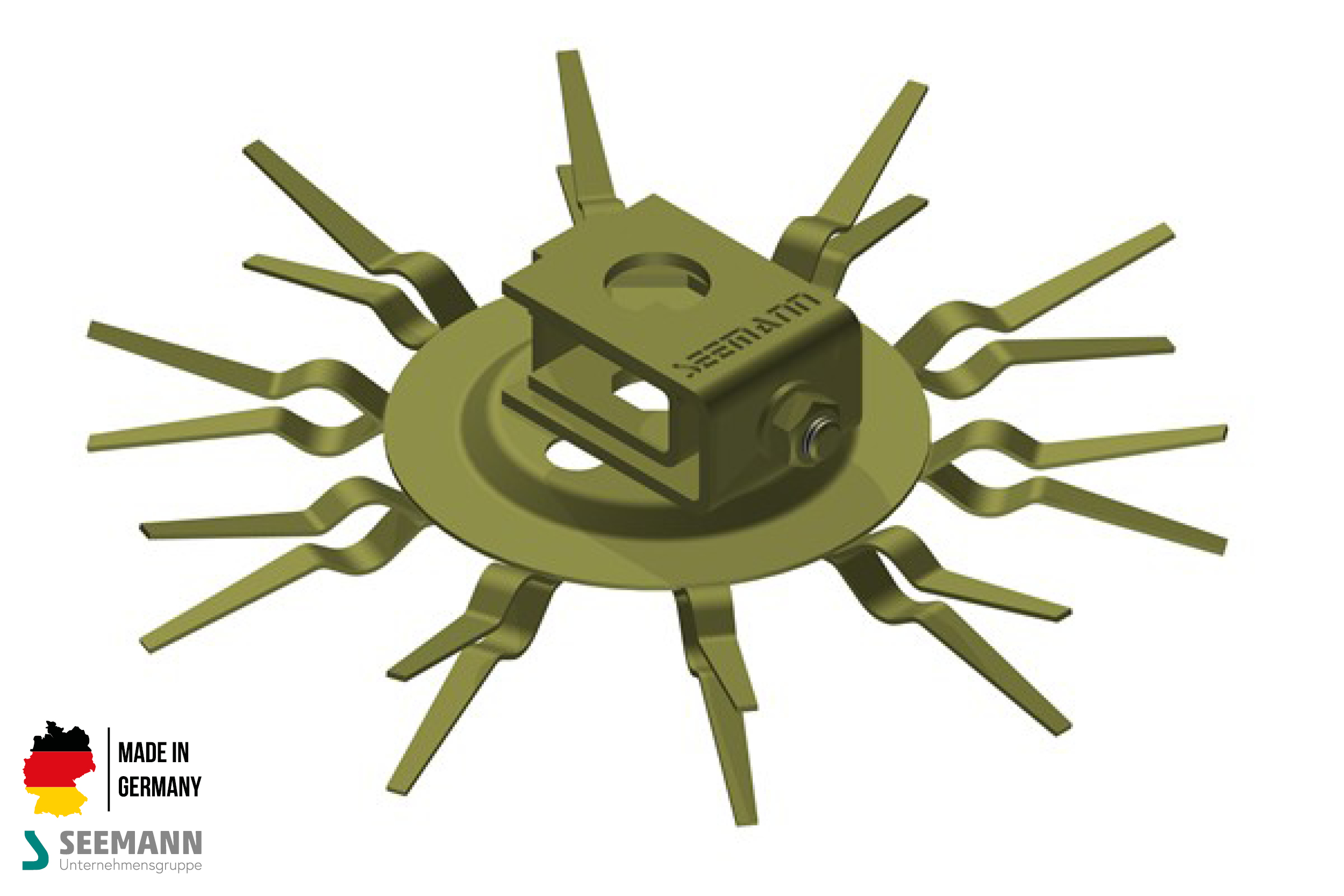 Titan-Klammerteller mit 10 Kontakten