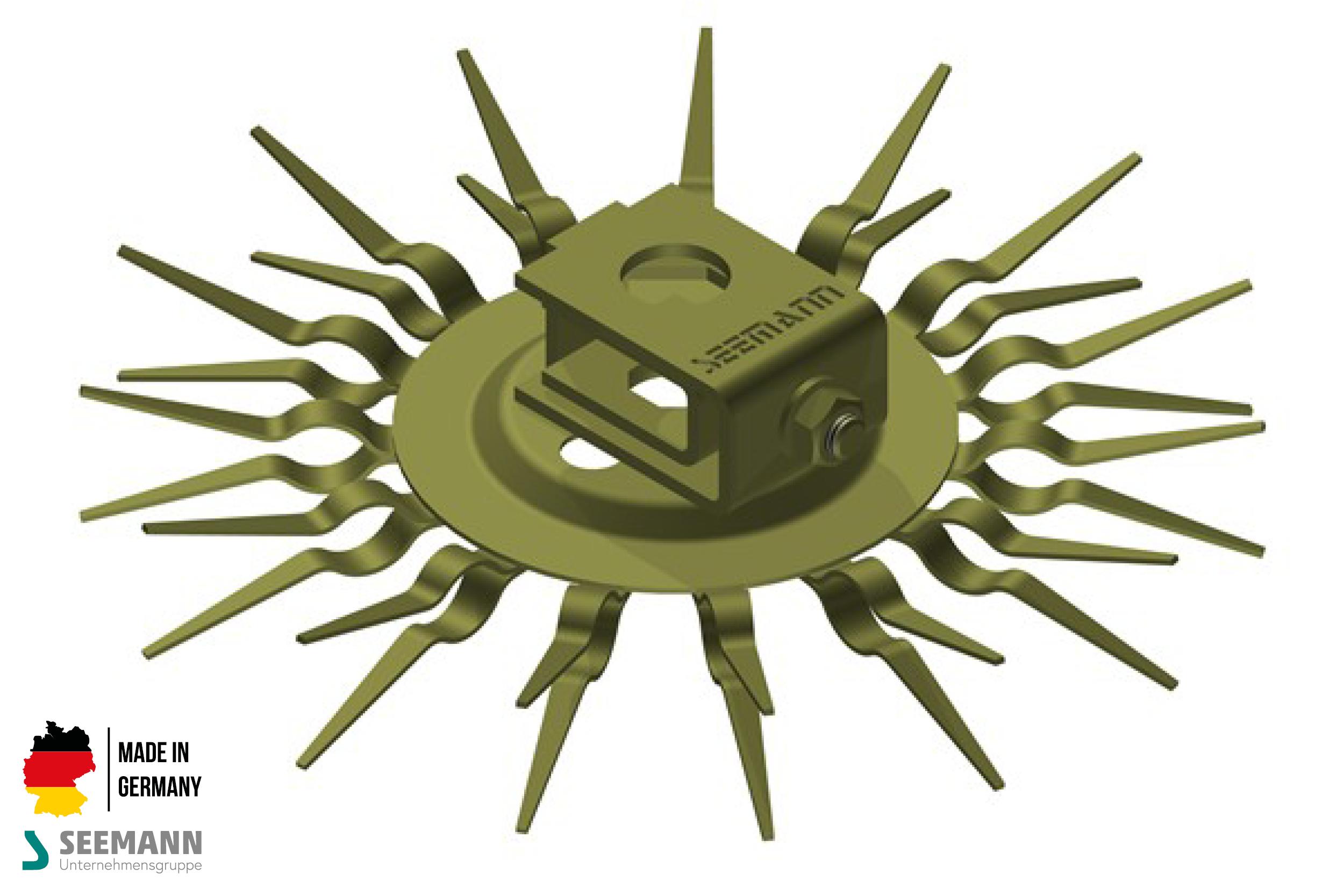 Titan-Klammerteller mit 15 Kontakten