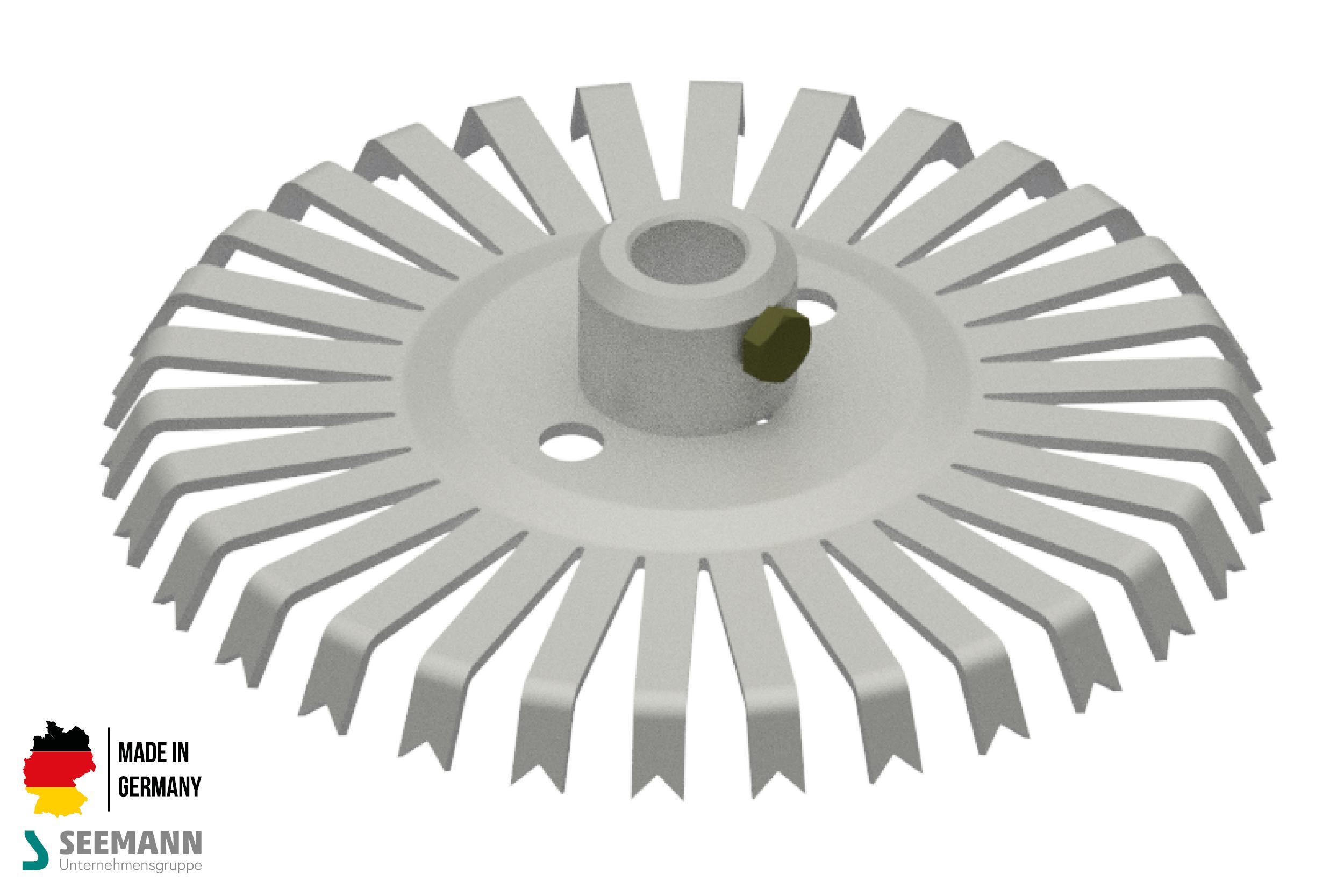 Alu-Stanzteller mit 30 Kontakten für runden Mittelstab
