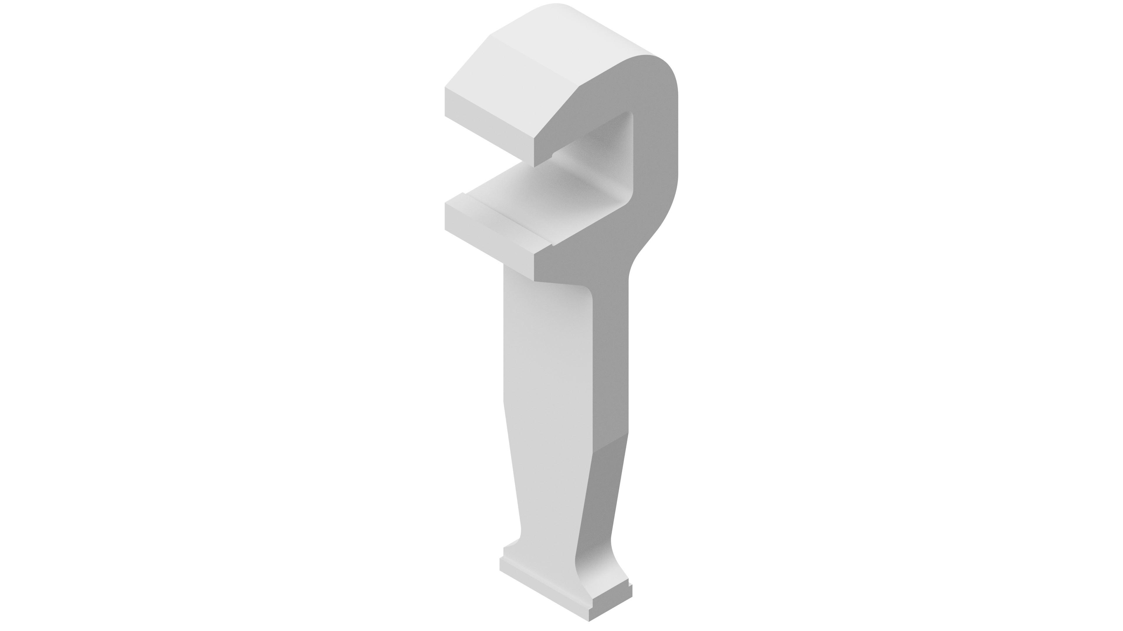 Einfache Alu-C-Klammer 16x19